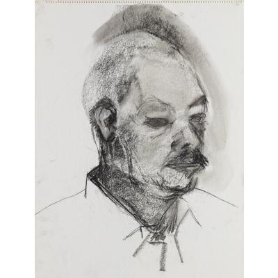 Head study of Jacob Lawrence