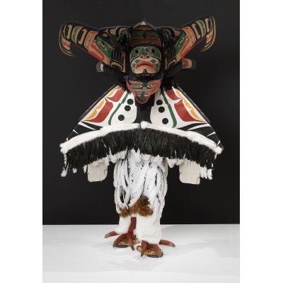 Thunderbird mask and regalia
