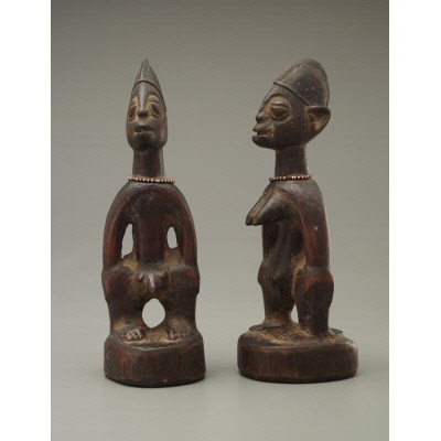 Commemorative twin figures (Awon Ere Ibeji)