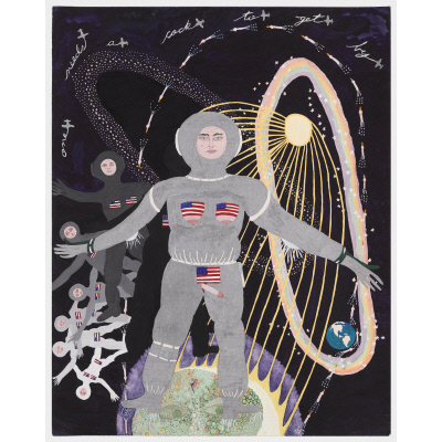 Woman Landing on Man in the Moon