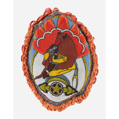 Center patch from Mardi Gras Indian suit