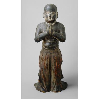 The infant Shotoku Taishi in mantra-chanting form (namu butsu Shotoku Taishi)
