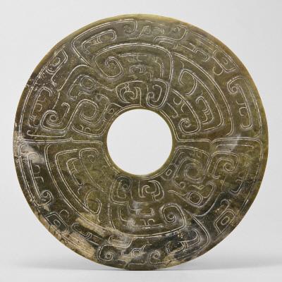Disc with dragon motif