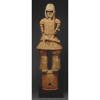 Haniwa warrior figure