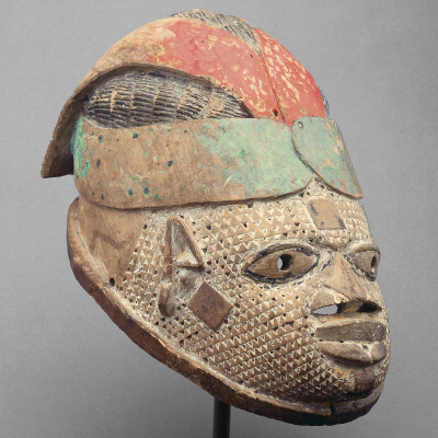 Gelede Mask: Female with Headtie