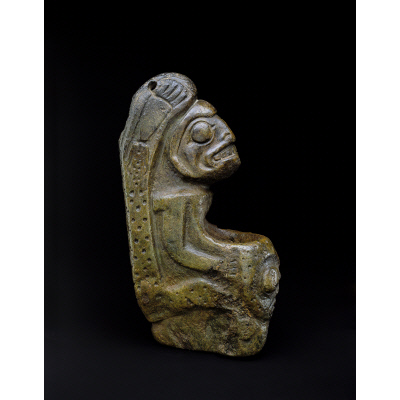 Seated human figure bowl