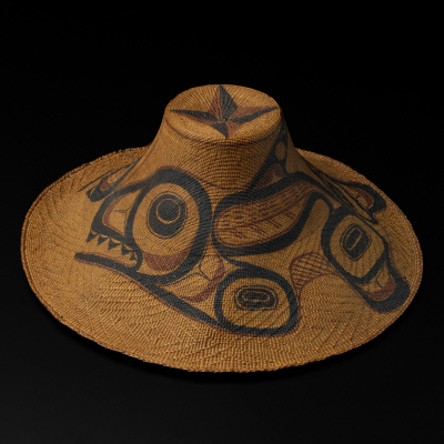 Painted woven hat