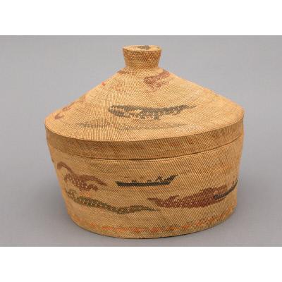 Piku ?u ?is lukwidab (Large lidded basket),