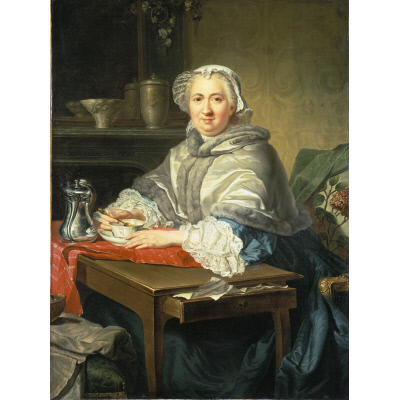 Madame Brion, Seated, Taking Tea