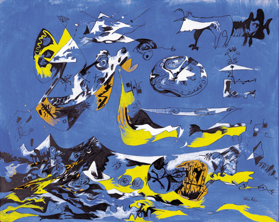 collections sam seattle art museum 1943 jackson pollock american 1912 1956 gouache and ink on composition board 18 3 4 x 23 7 8 in ohara museum of art kurashiki