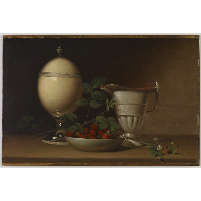 Still Life with Strawberries and Ostrich Egg Cup