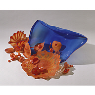 "Blue-stemmed Form with Orange and Red Persians, from the ""Persian"" series"